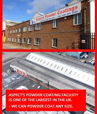Aspect Powder Coating - one of the largest Powder Coating Facilities in the UK